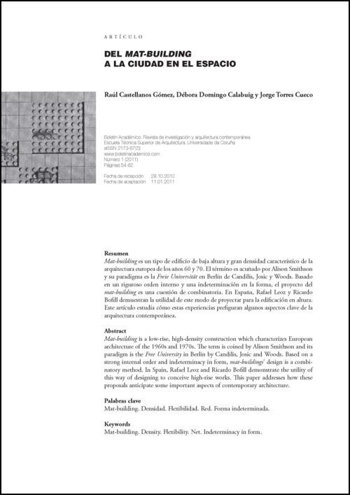 Del mat-building a la ciudad en el espacio 01 - Debora Domingo Calabuig