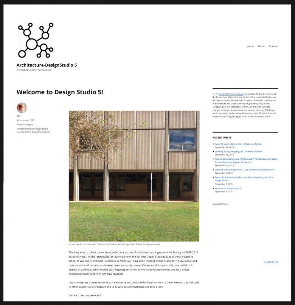 Architecture-DesignStudio 5 – Debora Domingo Calabuig