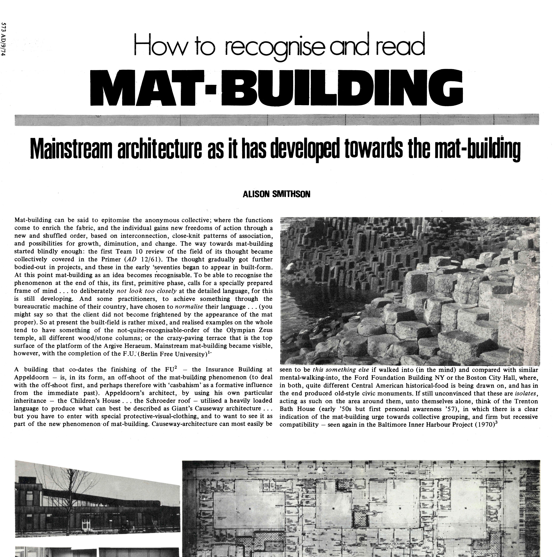 Mat-building A.Smithson – Debora Domingo Calabuig